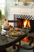 Candlelight and firelight are regular guests in the 10 Fitch dining room