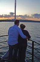 Savor the romance of a quiet evening afloat.