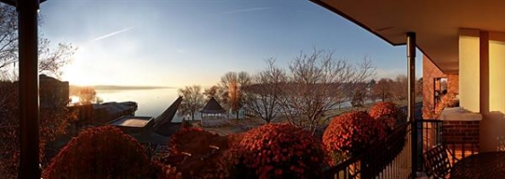 View of Skaneateles Lake from the Veranda of a Lakeview Room