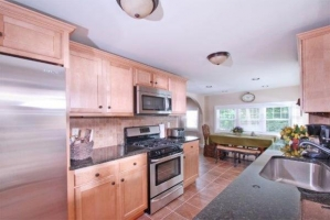 Kitchen with maple cabinets and granite counter tops